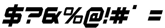 U.S.S. Dallas Condensed Italic Font OTHER CHARS