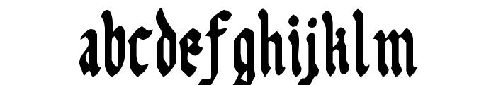 Uberh?lme Condensed Font LOWERCASE