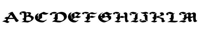 Uberh?lme Expanded Font UPPERCASE