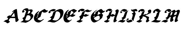 Uberh?lme Italic Font UPPERCASE