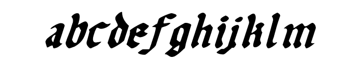 Uberh?lme Italic Font LOWERCASE