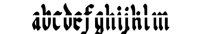 Uberh?lme Lazar Condensed Font LOWERCASE