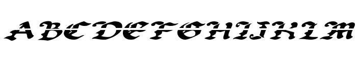 Uberh?lme Lazar Expanded Italic Font UPPERCASE