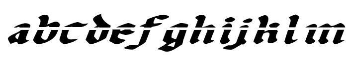 Uberh?lme Lazar Expanded Italic Font LOWERCASE