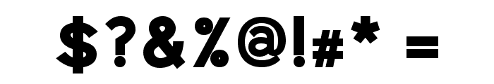 Uberlin Bold Italic Font OTHER CHARS