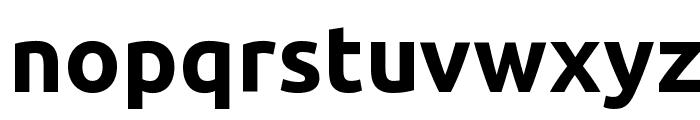Ubuntu Bold Font LOWERCASE