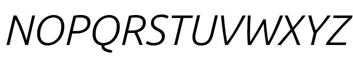 Ubuntu Light Italic Font UPPERCASE