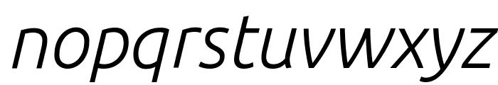 Ubuntu Light Italic Font LOWERCASE
