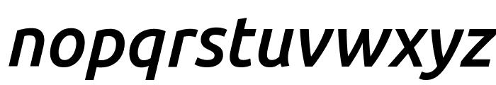 Ubuntu Medium Italic Font LOWERCASE