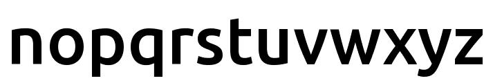 Ubuntu Medium Font LOWERCASE