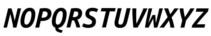 Ubuntu Mono Bold Italic Font UPPERCASE