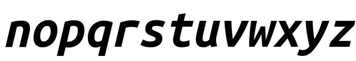 Ubuntu Mono Bold Italic Font LOWERCASE