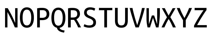Ubuntu Mono Font UPPERCASE