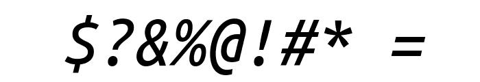 Ubuntu Monospaced Italic Font OTHER CHARS