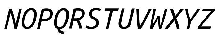 Ubuntu Monospaced Italic Font UPPERCASE