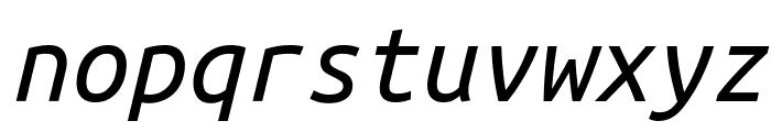 Ubuntu Monospaced Italic Font LOWERCASE