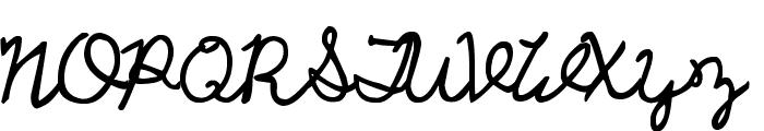 UCU Charles script Font UPPERCASE