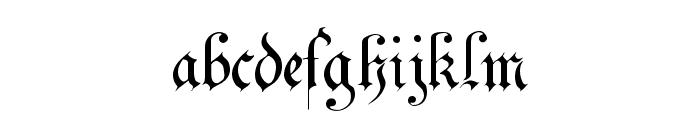 Uechi Gothic Font LOWERCASE