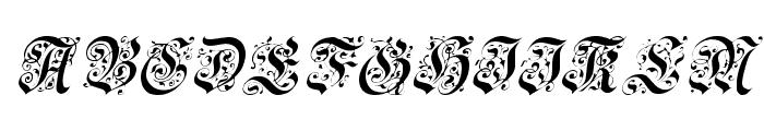 Uechi Italic Font UPPERCASE