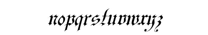 Uechi Italic Font LOWERCASE