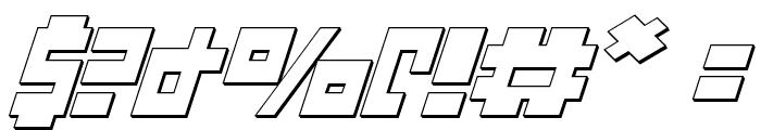 UFO Hunter 3D Italic Font OTHER CHARS