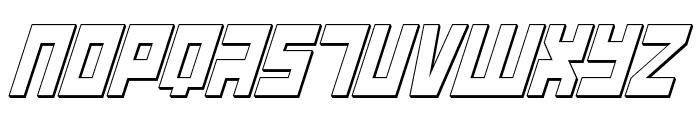 UFO Hunter 3D Italic Font UPPERCASE