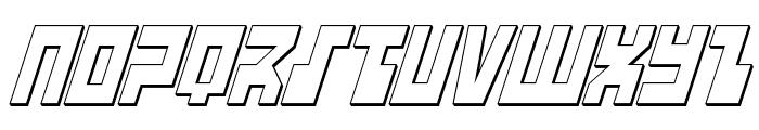 UFO Hunter 3D Italic Font LOWERCASE