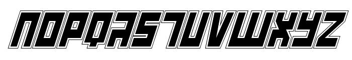 UFO Hunter Academy Italic Font UPPERCASE