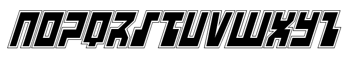 UFO Hunter Academy Italic Font LOWERCASE