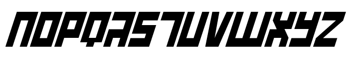 UFO Hunter Italic Font UPPERCASE