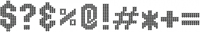 Ugly Sweater Font Icons ttf (400) Font OTHER CHARS