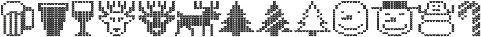 Ugly Sweater Font Icons ttf (400) Font LOWERCASE