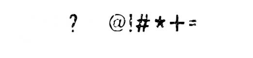 Ugly_Alligator.ttf  Font OTHER CHARS