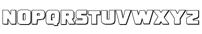 Uglier Things 3D Font LOWERCASE