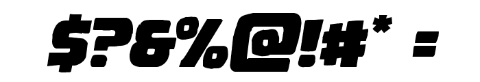 Uglier Things Mangled Italic Font OTHER CHARS