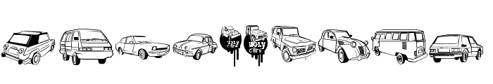 Ugly Cars Font OTHER CHARS