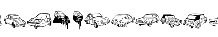 Ugly Cars Font UPPERCASE