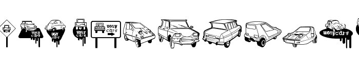 Ugly Cars Font LOWERCASE