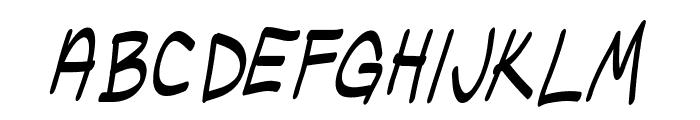 Ugly Kids Italic Font UPPERCASE