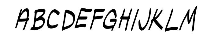 UglyKids-Italic Font LOWERCASE