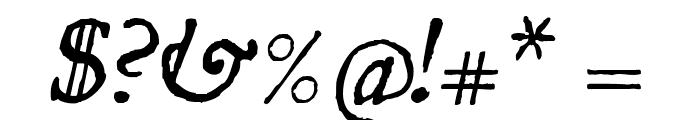 UglyQua-Italic Font OTHER CHARS