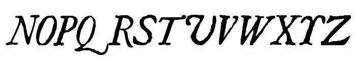 UglyQua-Italic Font UPPERCASE