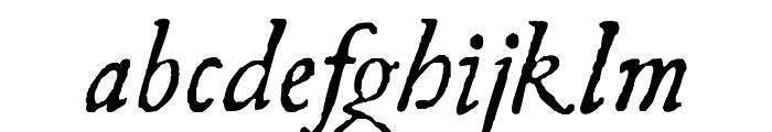 UglyQua-Italic Font LOWERCASE