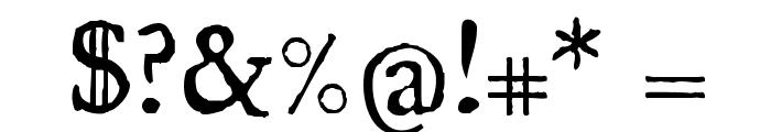 UglyQua Font OTHER CHARS