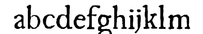 UglyQua Font LOWERCASE
