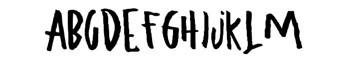 ugly boy - aspek hndz Font UPPERCASE