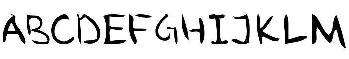 ugly hand writing Font UPPERCASE