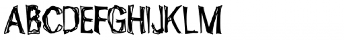 Ugly Stick AOE Font UPPERCASE