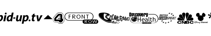 UK Digital TV Channel Logos Font UPPERCASE