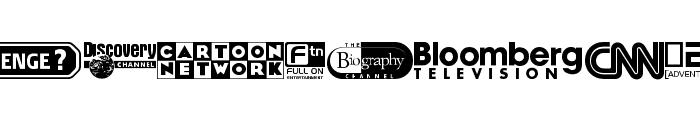 UK Digital TV Channel Logos Font LOWERCASE